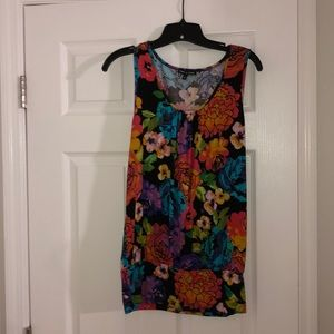 Cable & gauge sleeveless floral